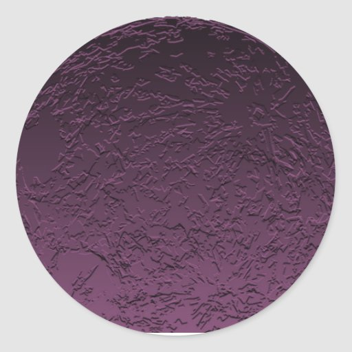 Luna púrpura etiqueta redonda