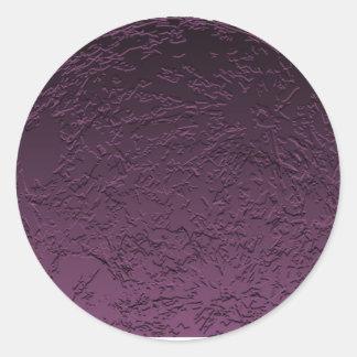 Luna púrpura pegatina redonda