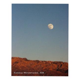 Luna sobre Sandias con el texto, el panel de pared Cuadro
