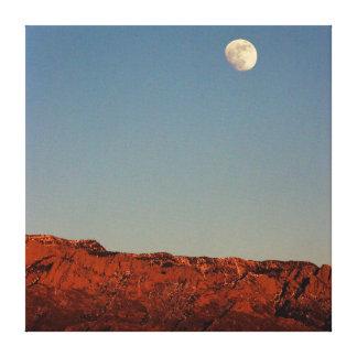 Luna sobre Sandias Impresion De Lienzo
