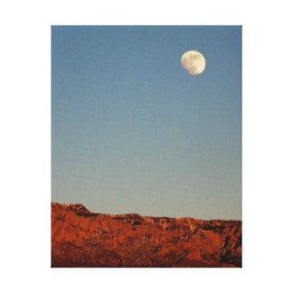 Luna sobre Sandias Impresión En Lienzo