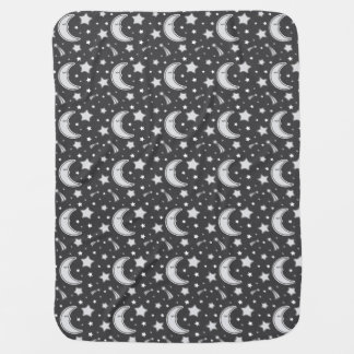 Luna soñolienta - manta gris oscuro del bebé