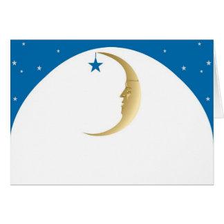 Luna soñolienta tarjeta de felicitación