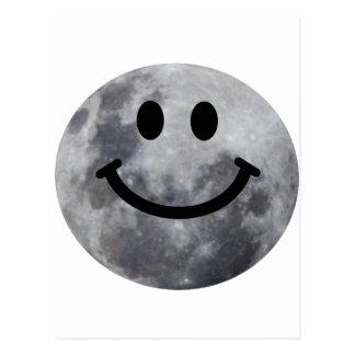 Luna sonriente postal