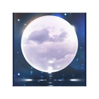 Luna tempestuosa impresión en lienzo
