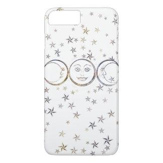 Luna triple Ipad del Viejo-School/caja del Funda Para iPhone 8 Plus/7 Plus