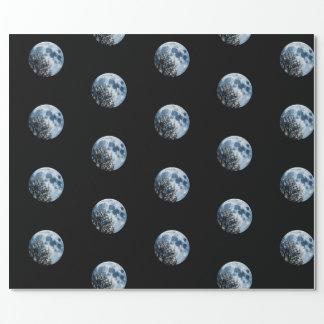 Luna y árboles lunares de la noche de la Luna Papel De Regalo