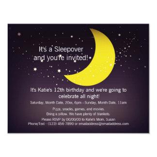 Luna y estrellas del Sleepover Invitación 10,8 X 13,9 Cm