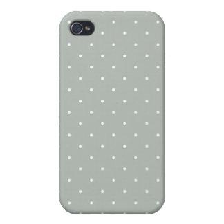 Lunar de los gris plateados del estilo de los años iPhone 4 carcasas