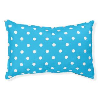 Lunar del azul de la fiesta en la piscina cama para mascotas