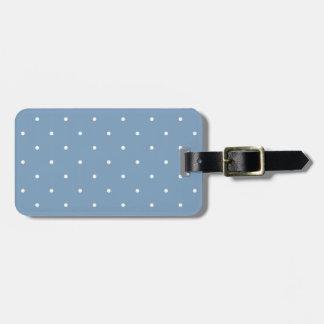 Lunar del azul de la oscuridad del estilo de los etiquetas maleta