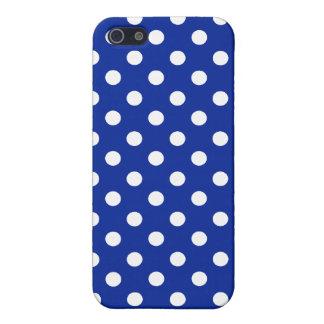 Lunar del azul real y del blanco iPhone 5 cárcasas