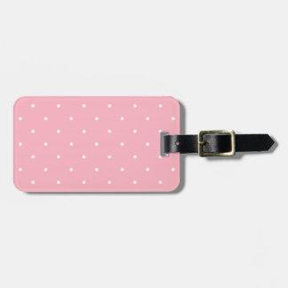 Lunar del rosa del estilo de los años 50 etiquetas para maletas