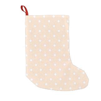 Lunar ligero de la sopa de mariscos calcetín navideño pequeño