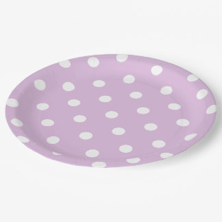 Lunar púrpura plato de papel