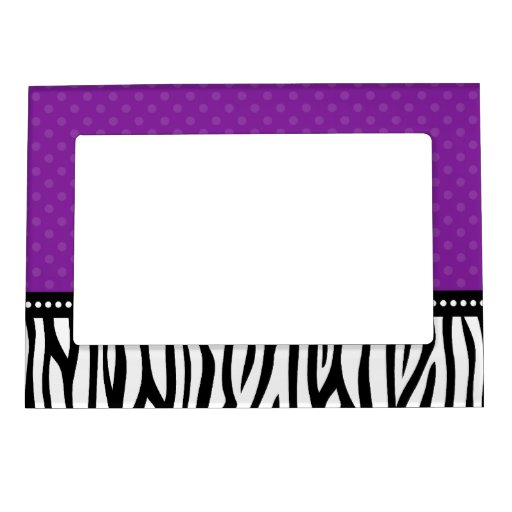 Lunar púrpura y negro de la cebra marcos magnéticos de fotos