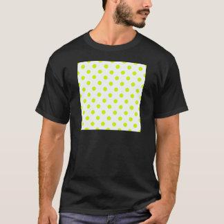 Lunares - amarillo fluorescente en blanco camiseta