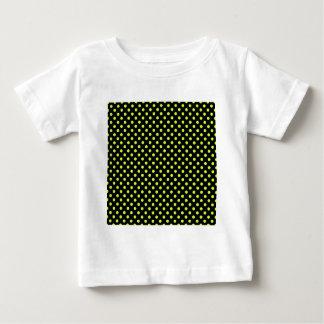 Lunares - amarillo fluorescente en negro camisetas