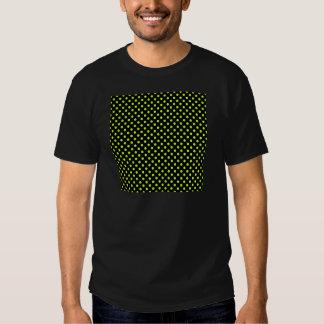 Lunares - amarillo fluorescente en negro camiseta