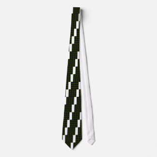 Lunares - amarillo fluorescente en negro corbata