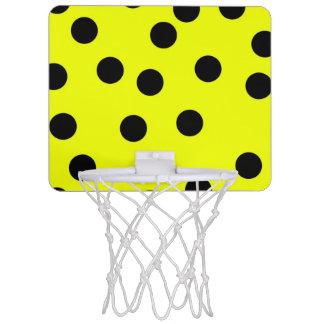 Lunares amarillos brillantes mini tablero de baloncesto