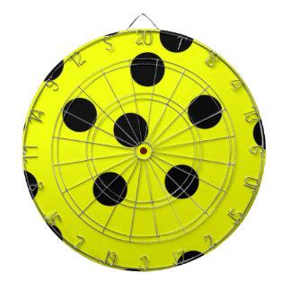 Lunares amarillos brillantes tabla dardos