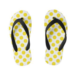 Lunares amarillos chanclas para niños