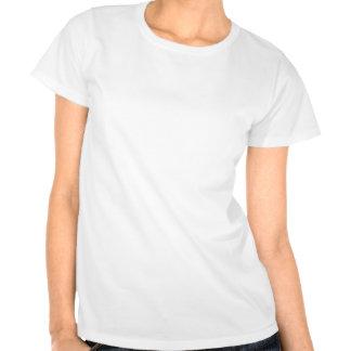 Lunares - azul de acero en blanco camisetas