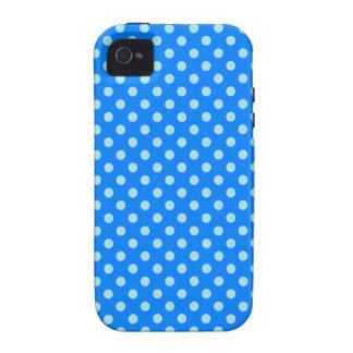 Lunares - azul de la ventisca en azul iPhone 4/4S fundas