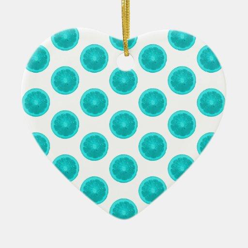 Lunares azules claros de la rebanada de la fruta c adorno para reyes
