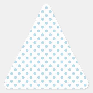 Lunares - azules claros en blanco calcomania triangulo