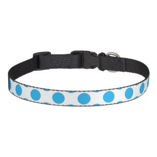 Lunares azules collar para mascotas