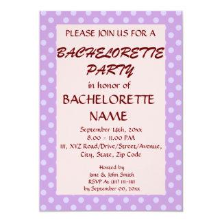 Lunares BacheloretteParty-Violetas, PinkBackground Invitación 12,7 X 17,8 Cm