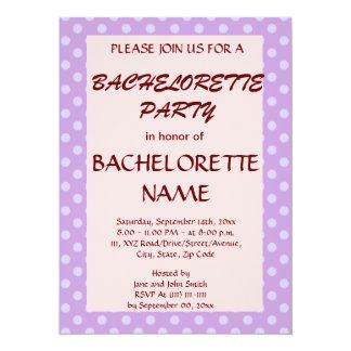 Lunares BacheloretteParty-Violetas, PinkBackground Invitación 13,9 X 19,0 Cm