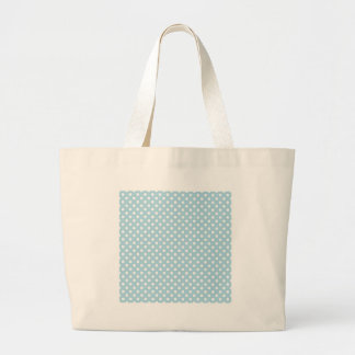 Lunares - blanco en azul claro bolsas