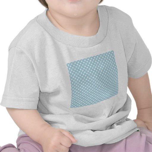 Lunares - blanco en azul claro camiseta