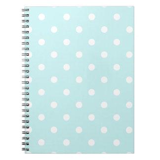 Lunares - blanco en azul claro cuaderno