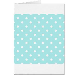 Lunares - blanco en azul claro tarjeta de felicitación