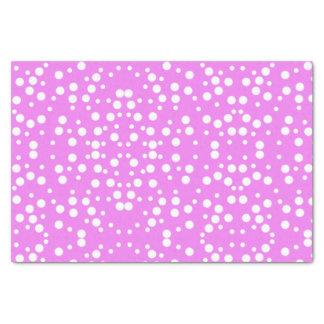 Lunares blancos en el papel seda del rosa de la