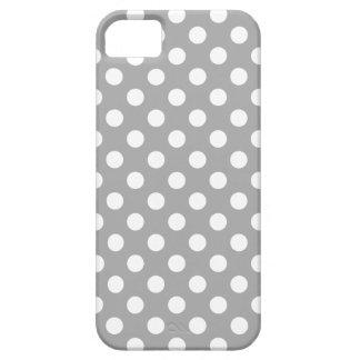 Lunares blancos en gris funda para iPhone SE/5/5s