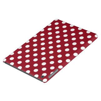 Lunares blancos en rojo carmesí funda iPad air