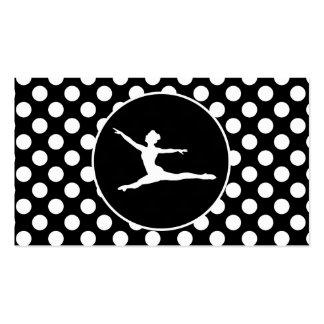 Lunares blancos y negros Ballet Tarjetas Personales
