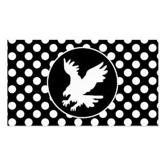 Lunares blancos y negros; Eagle Tarjetas De Negocios