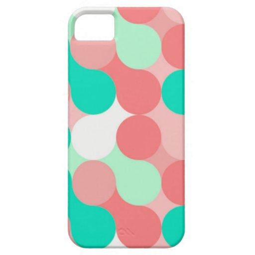 lunares celeste y rosa pastel, carcasa iPhone 5 carcasa