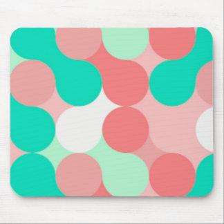 lunares celeste y rosa pastel, tapete mousepad