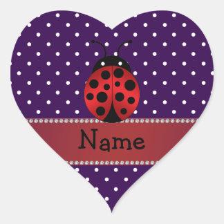 Lunares conocidos personalizados de la púrpura de calcomanía corazón