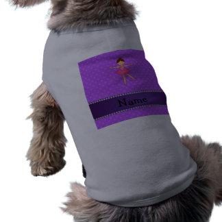 Lunares conocidos personalizados de la púrpura de  ropa perro