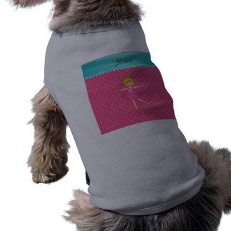 Lunares conocidos personalizados del rosa de la camisas de perritos