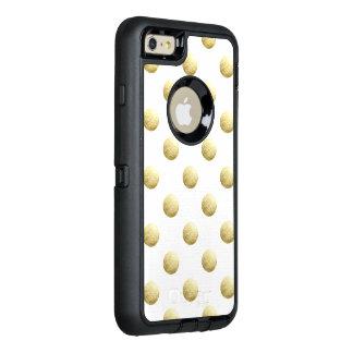 Lunares de la foto de la hoja de oro funda OtterBox defender para iPhone 6 plus