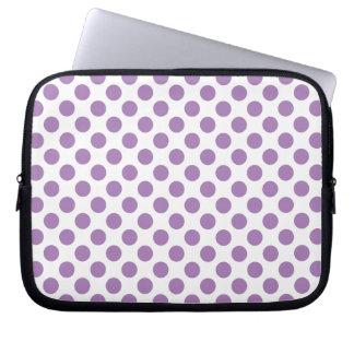 Lunares de la lavanda funda para ordenador